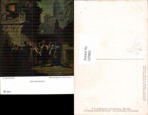 537002,Künstler AK Carl Spitzweg das Ständchen pub Ackermann 2965