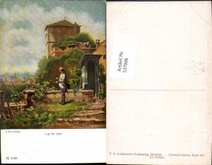 537006,Künstler AK Carl Spitzweg Lug ins Land pub Ackermann 3039
