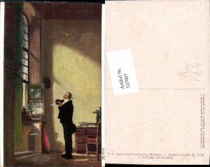 537007,Künstler AK Carl Spitzweg Der Schreiber pub Ackermann 3028