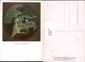 537008,Künstler AK Carl Spitzweg Mond Mondscheinlektüre Lesen pub Ackermann 3036