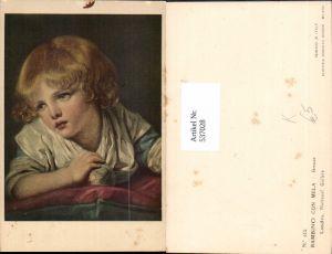 537028,Künstler AK Jean-Baptiste Greuze Bambino con Mela Kind Portrait