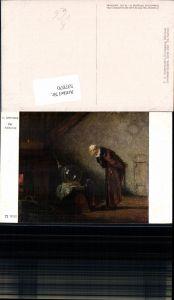 537070,Künstler AK Carl Spitzweg Der Alchemist Alchimist zauberer pub Ackermann 3032