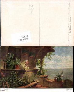 537071,Künstler AK Carl Spitzweg Ausschau Pfeife Rauchen pub Ackermann 289