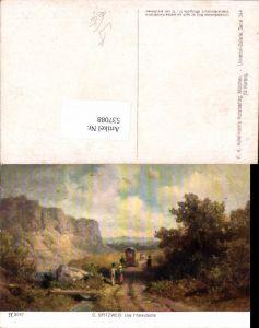 537088,Künstler AK Carl Spitzweg Postkutsche Kutsche Postwesen pub Ackermann 3047