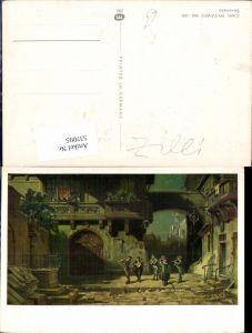 537095,Künstler AK Carl Spitzweg Serenade
