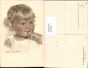 537142,tolle Künstler AK Lotte Herrlich Kinderköpfe 224/4 Mädchen Portrait