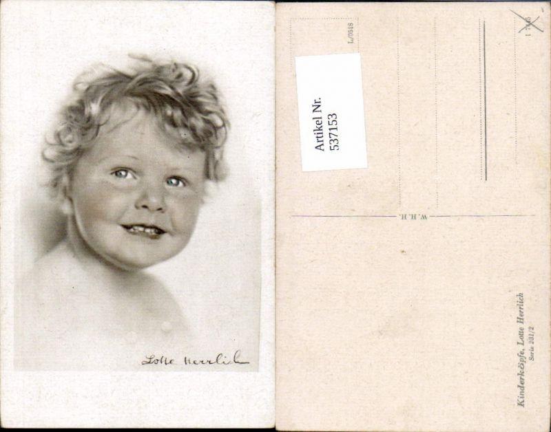 537153,tolle Künstler AK Lotte Herrlich Kinderköpfe 231/2 Kind portrait