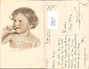 537165,tolle Künstler AK Lotte Herrlich Kinderköpfe 221/2 Portrait  Mädchen