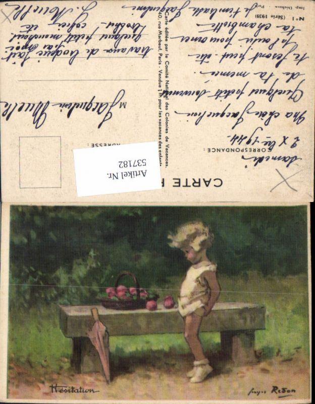 537182,tolle Künstler AK Georges Redon Mädchen Serie 1939 No. 1