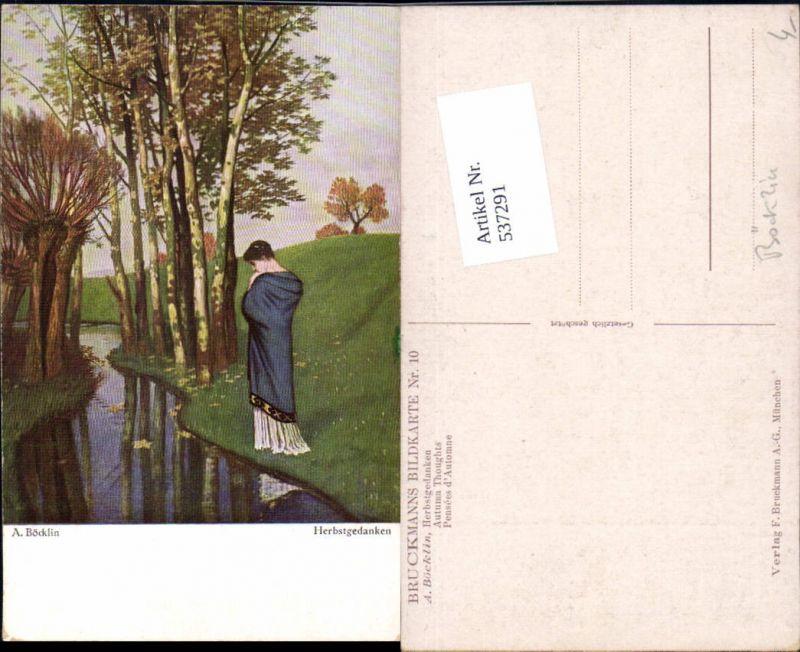 537291,tolle Künstler AK A. Böcklin Herbstgedanken