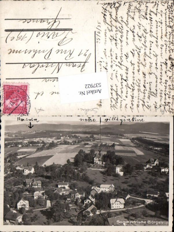 537922,tolle Fliegeraufnahme Bürgstein Sloup v Cechach Liberec