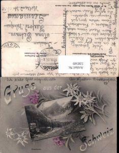 538349,Schmuckkarte Gruß aus der Schweiz Seealpsee Schwende Wasserauen Appenzell