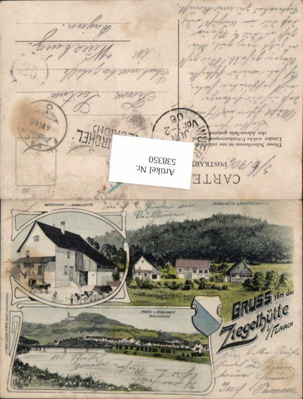 538350,tolle Litho Gruß aus Ziegelhütte b. Flaach Andelfingen Zürich Wirtschaft
