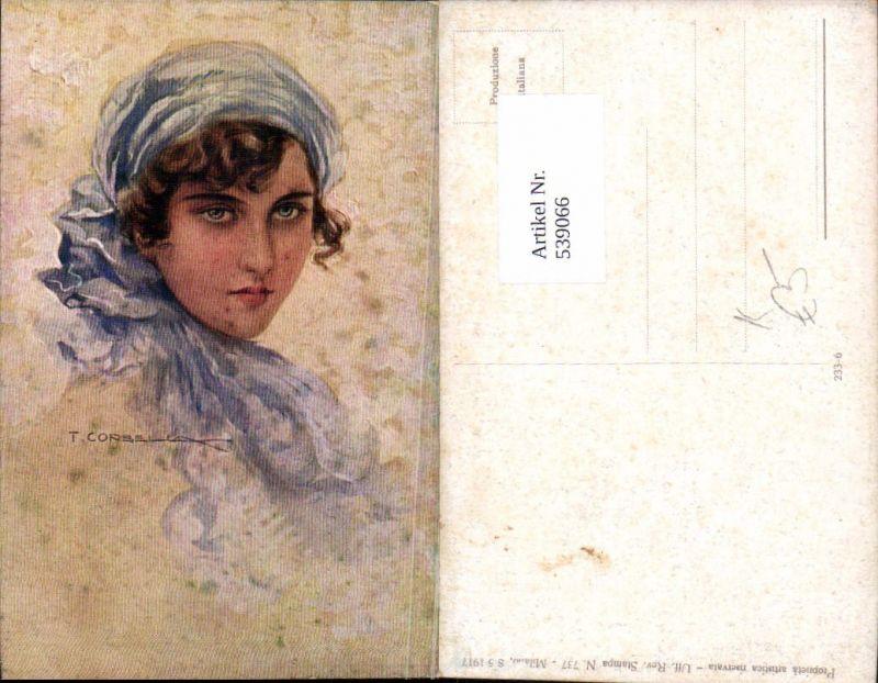 539066,Künstler AK T. Corbella Frau Portrait Erotik