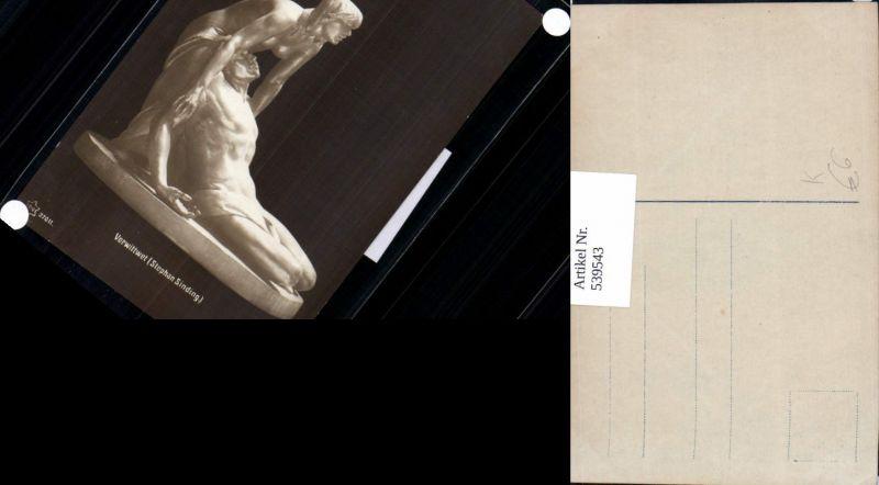 539543,Skulptur Statue Erotik Akt Stephan Sinding Verwittwet