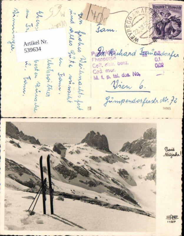 539634,Foto-AK Ski Sport Wintersport nachgebühr nachporto Weyregg Attersee
