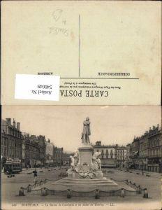 540049,Bordeaux La Statue de Gambetta et les Allees de Tourney Monument Straßenbahn