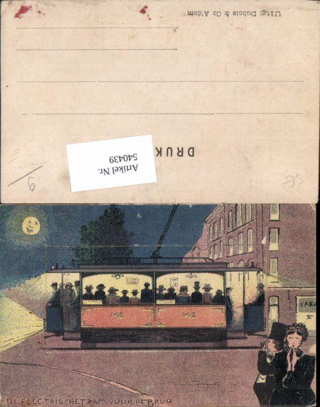 540439,seltene Leporello Straßenbahn elekt. Tram Humor offen küssende Paare Tramway