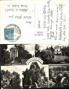 533530, Mehrbild AK, Wörlitz Wörlitzer Park, Stein , Krater des Steins, Schloß