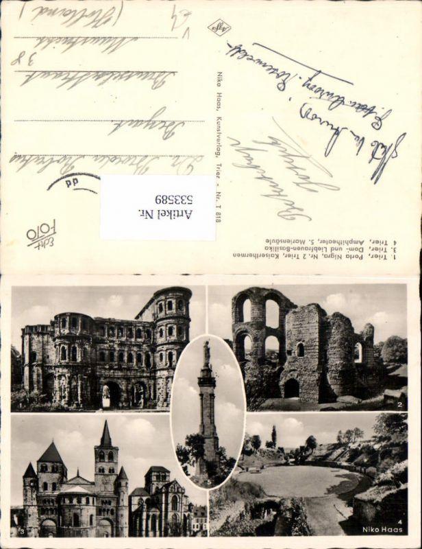 533589, Mehrbild AK, Trier Porta Nigra, Dom, Niko Haas Kunstverlag