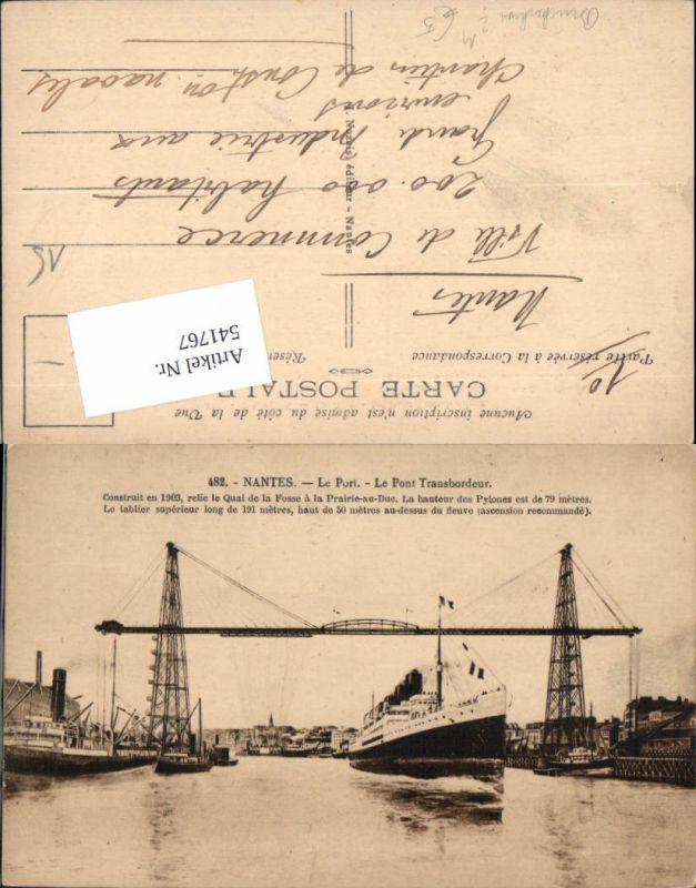 541767,Technik Schiff Nantes Le Port Hafen Schwebefähre Kran