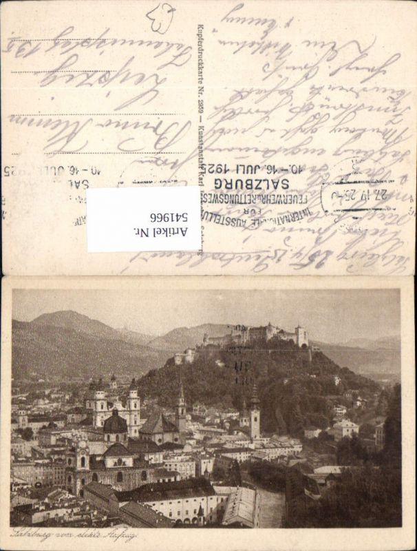 541966,Stempel Feuerwehr Rettungswesen Rotes Kreuz Ausstellung 1925 Salzburg Stadt Totale