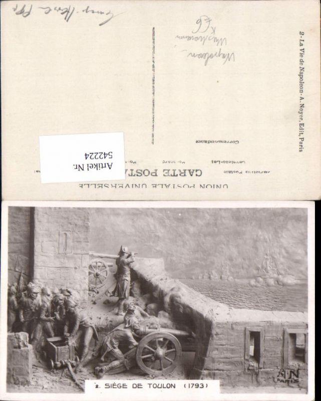 542224,tolle Künstler AK B. Mastroianni Napoleon Bonaparte Siege de Toulon 1793 Kanone