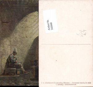 542668,Künstler AK Carl Spitzweg Aschermittwoch pub Ackermann 3033