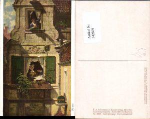 542669,Künstler AK Carl Spitzweg Liebesbrief Brief pub Ackermann 2978