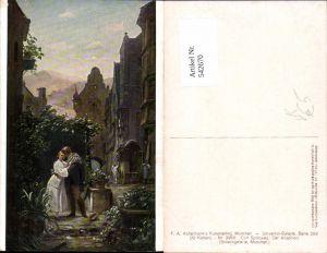 542670,Künstler AK Carl Spitzweg Abschied pub Ackermann 2968