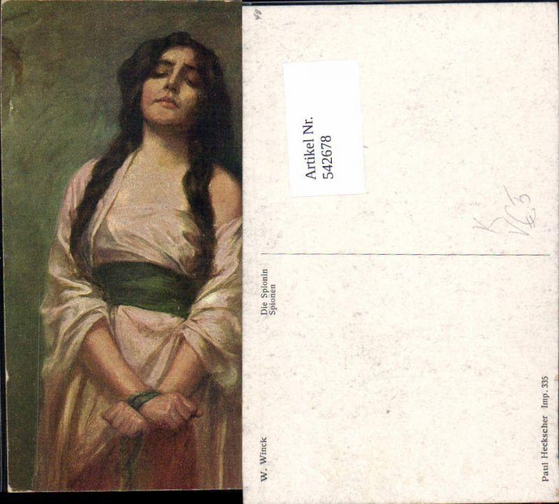 542678,Künstler AK W. Winck Spionin Mignon Zigeunerin Zigeuner Roma Sinti
