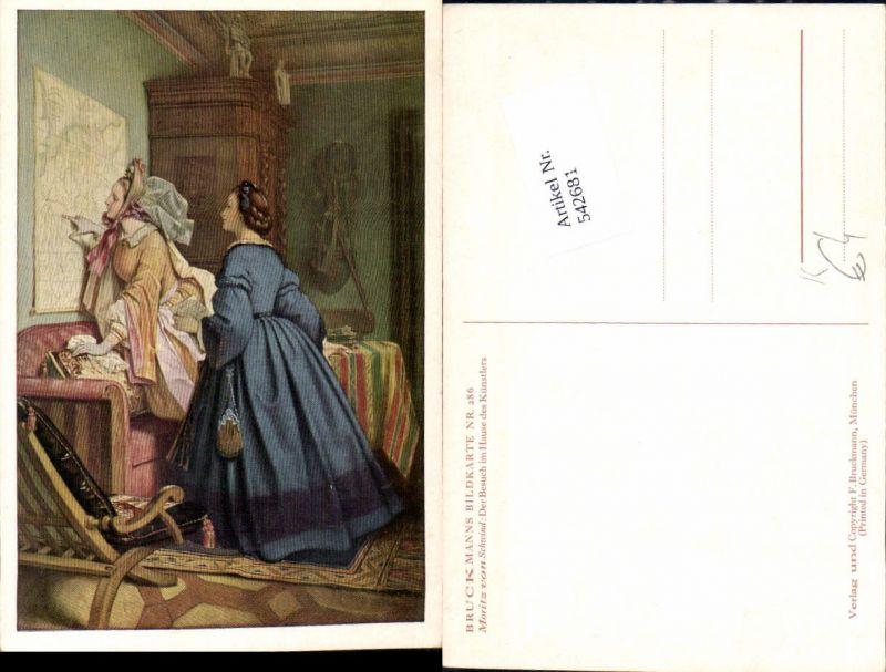 542681,Künstler AK Moritz von Schwind Landkarte Frauen