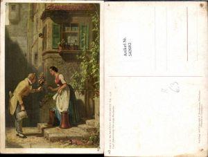 542682,Künstler AK Carl Spitzweg Der ewige Hochzeiter