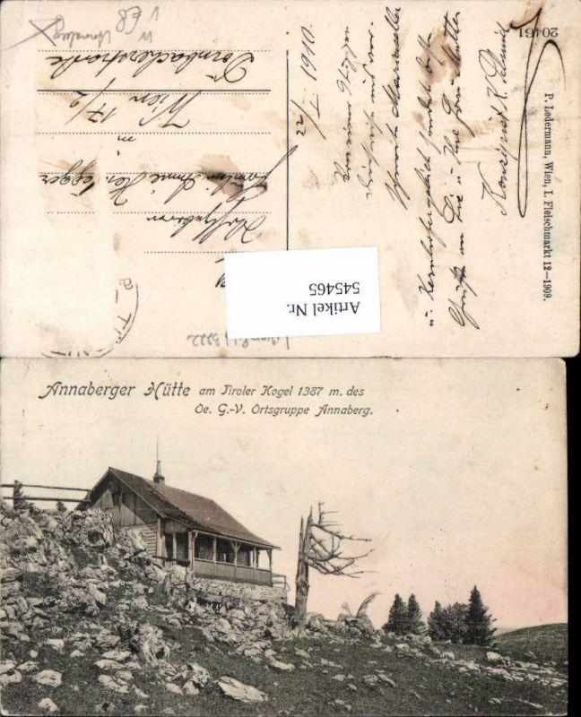 545465,Annaberg Hütte am Tirolerkogel Annaberg Türnitz pub Ledermann 20461