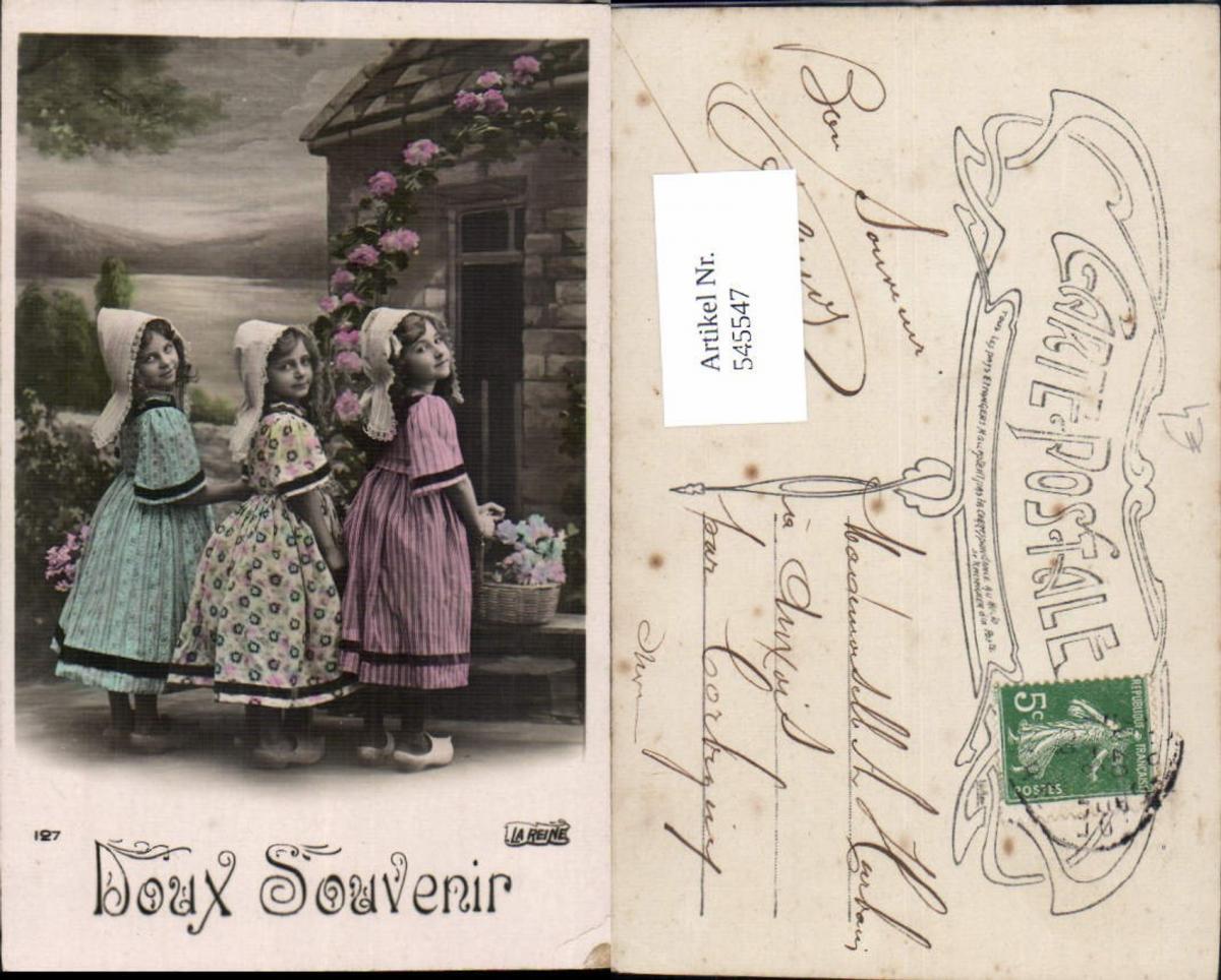 545547,Foto-AK Kinder Tracht Niederlande Mädchen