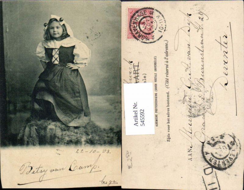 545592,Künstler AK Kinder Kind Mädchen Kleid Tracht