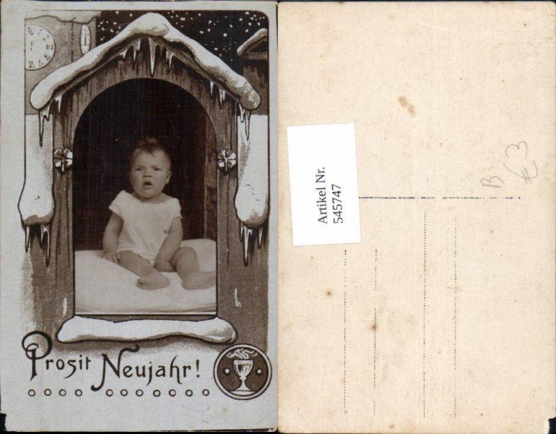 545747,Foto-AK Kind Kinder Do it yourself Baby Neujahr