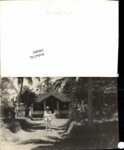 546489,Foto-AK Cambodia Kambodscha Palmen Haus
