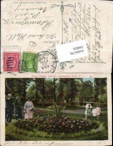 546835,New Jersey Palisades Park Bergen County Floral Display Palisade Amusement Park