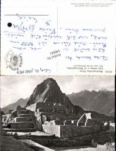 546841,Peru Machupicchu Las Ruinas Huainapicchu Lima Vintage postcard