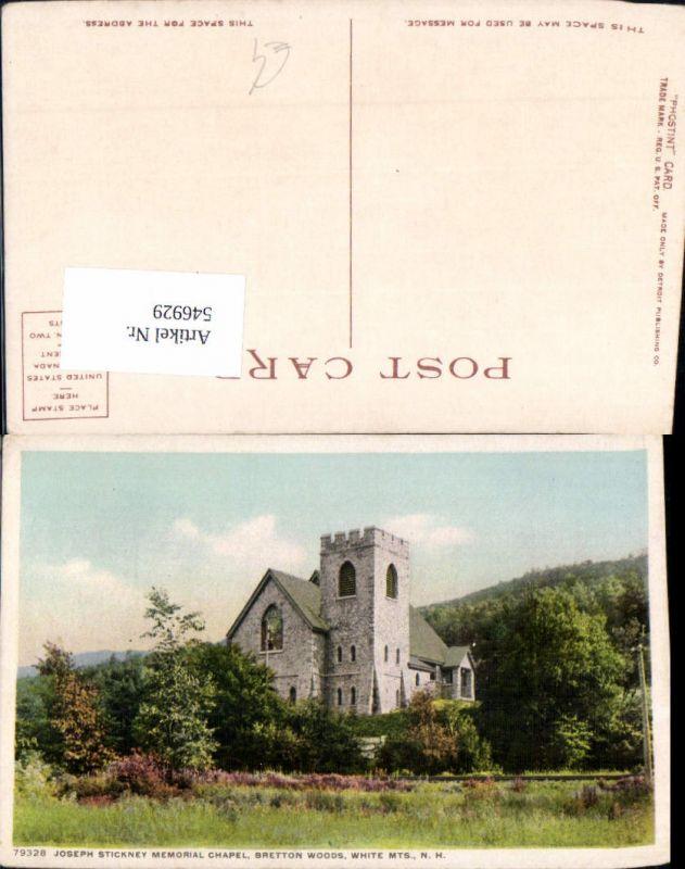 546929,New Hampshire Bretton Woods Joseph Stickney Memorial