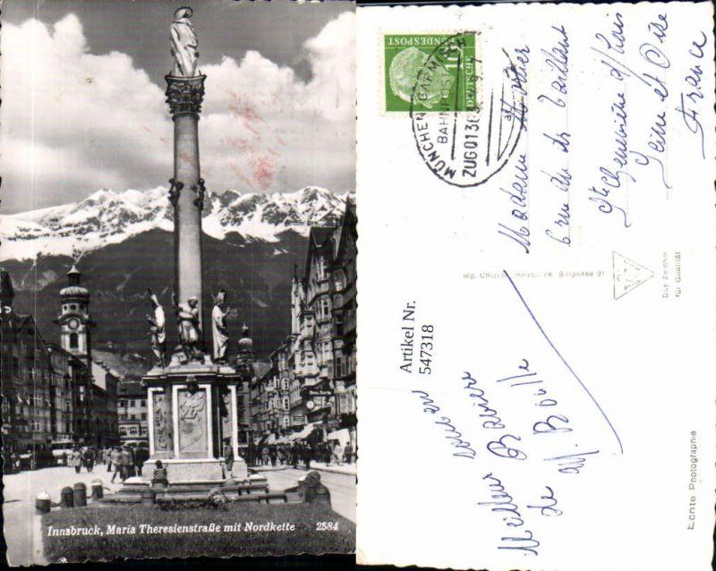 547318,Bahnpost München Garmisch Zug 01363 , Innsbruck