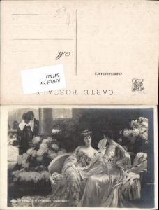 547421,Künstler AK Jugendstil Fächer Frauen Etcheverry Art Nouveau