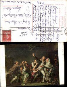 547444,Künstler AK J. B. Greuze Väterliche Verfluchung