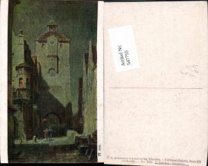 547755,Künstler AK Carl Spitzweg Heimkehr pub Ackermann 289-2982