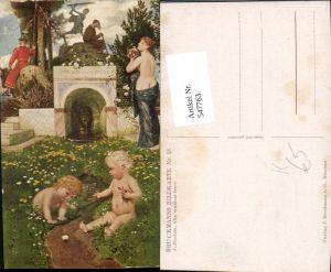 547763,Künstler AK A. Böcklin Vita somnium breve pub Bruckman 18