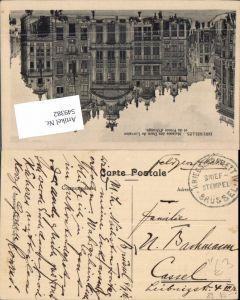 549382,Deutsche Feldpost Kriegslazarett brüssel n. Cassel