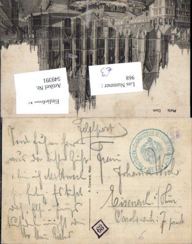 549391,Feldpost Postüberwachungsstelle d. Gouvernements Metz n. Eisenach