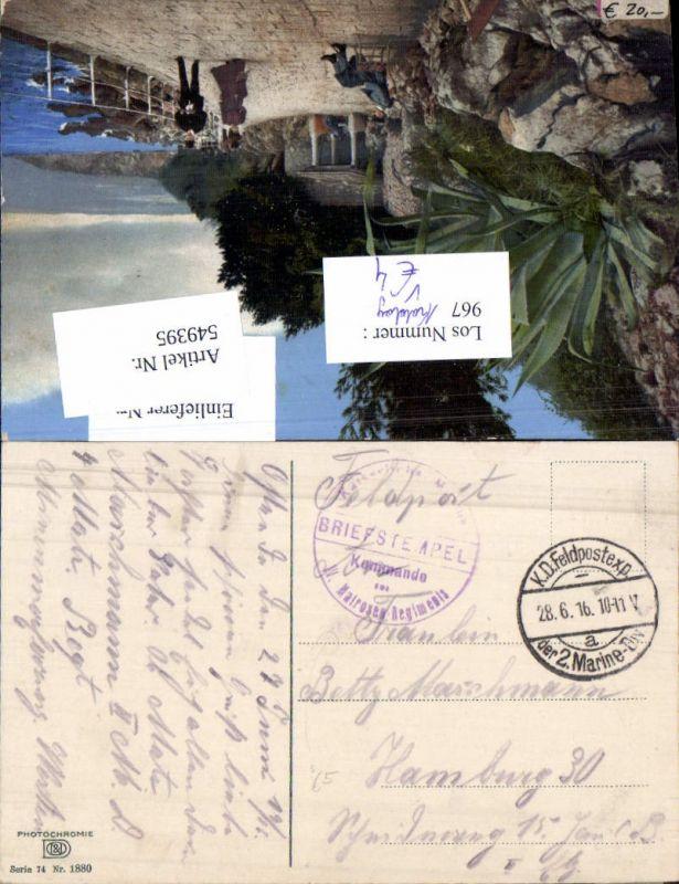 549395,Deutsche Feldpost Kaiserliche Marine Kriegsmarine 2. Div. Matrosen Reg. Kdo. n. Hamburg Photochromie Nenke Osterm