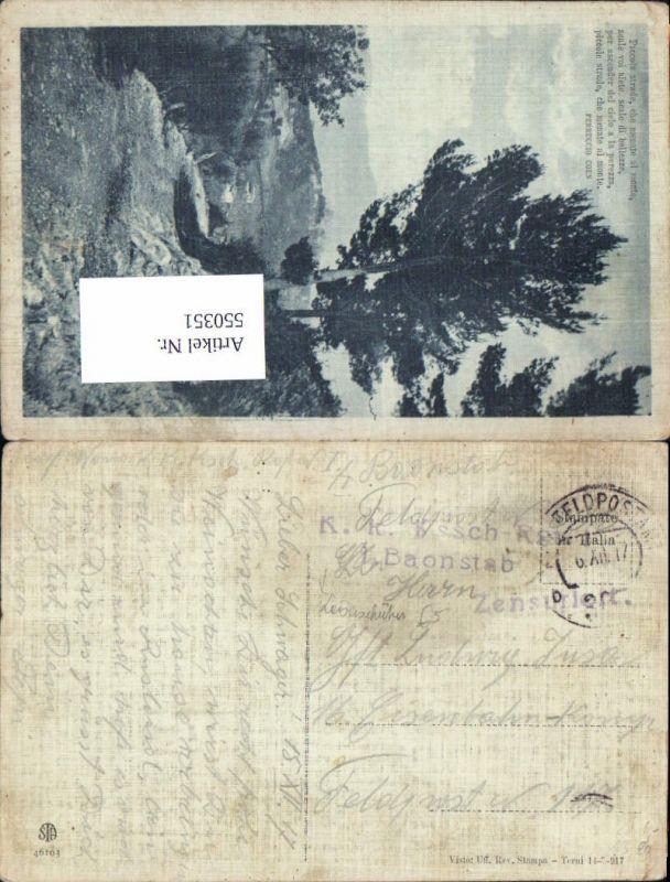 550351,K.K. Feldpost 395 Kaiserschützen Rgt. I/4 Tirol n. Eisenbahn komp.